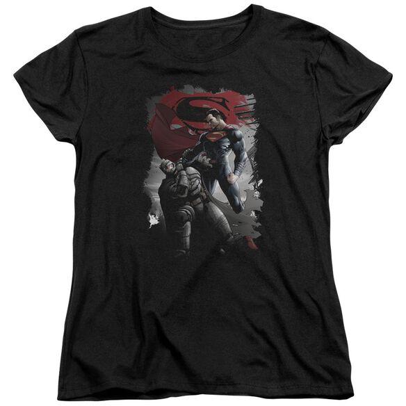 Batman Vs Superman Choke Short Sleeve Womens Tee T-Shirt