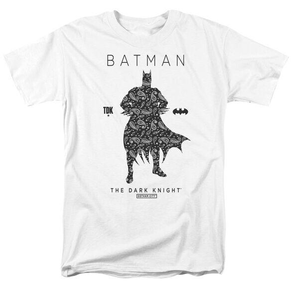 Batman Paislety Silhouette Short Sleeve Adult White T-Shirt