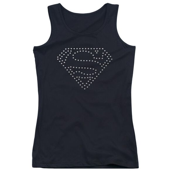 Superman Superman Rhinestone Emblem Juniors Tank Top
