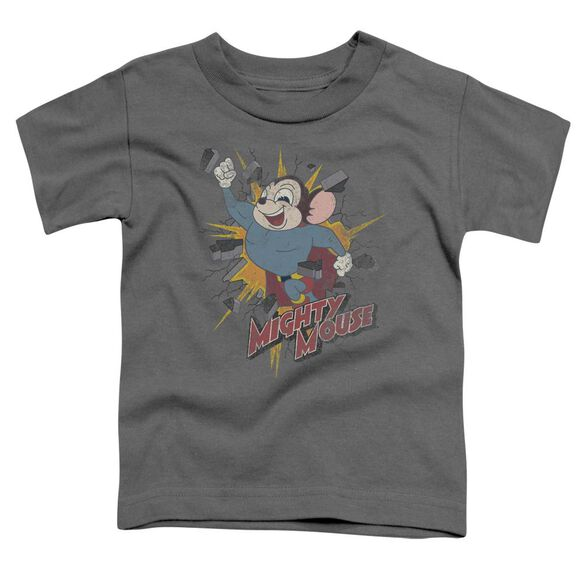 Mighty Mouse Break Through Short Sleeve Toddler Tee Charcoal Md T-Shirt