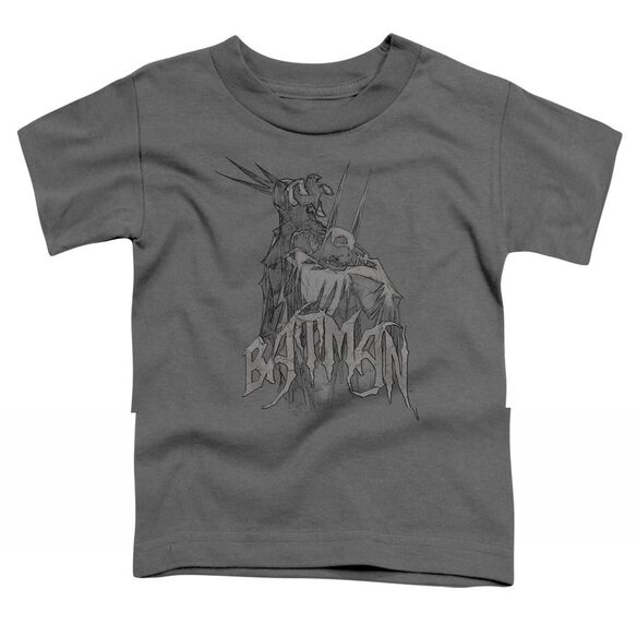 BATMAN SCARY RIGHT HAND - S/S TODDLER TEE - CHARCOAL - T-Shirt