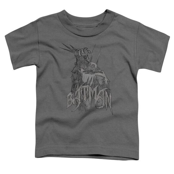 Batman Scary Right Hand Short Sleeve Toddler Tee Charcoal Lg T-Shirt