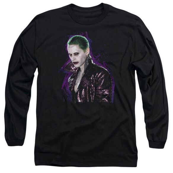 Suicide Squad Joker Stare Long Sleeve Adult T-Shirt
