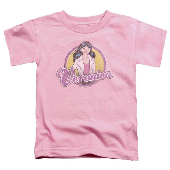 Archie Comics Veronica Distressed Short Sleeve Toddler Tee Pink Lg T-Shirt