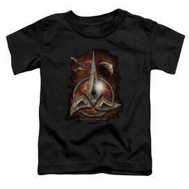Star Trek Klingon Crest Short Sleeve Toddler Tee Black Md T-Shirt