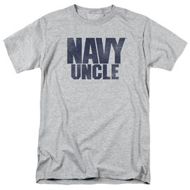 Navy Uncle Short Sleeve Adult Athletic Heather T-Shirt