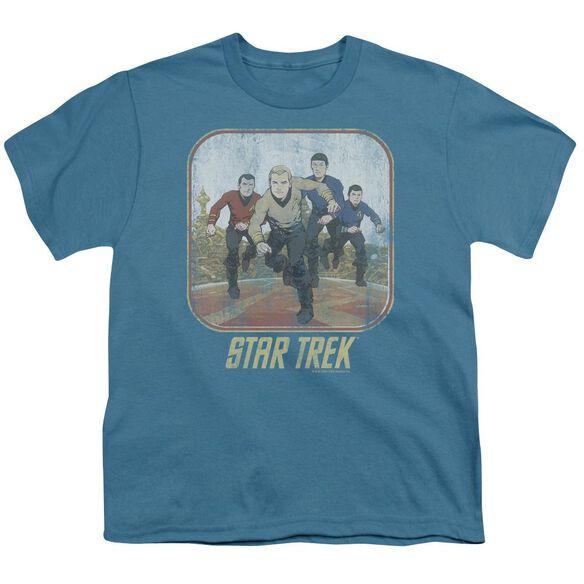St Original Running Cartoon Crew Short Sleeve Youth T-Shirt