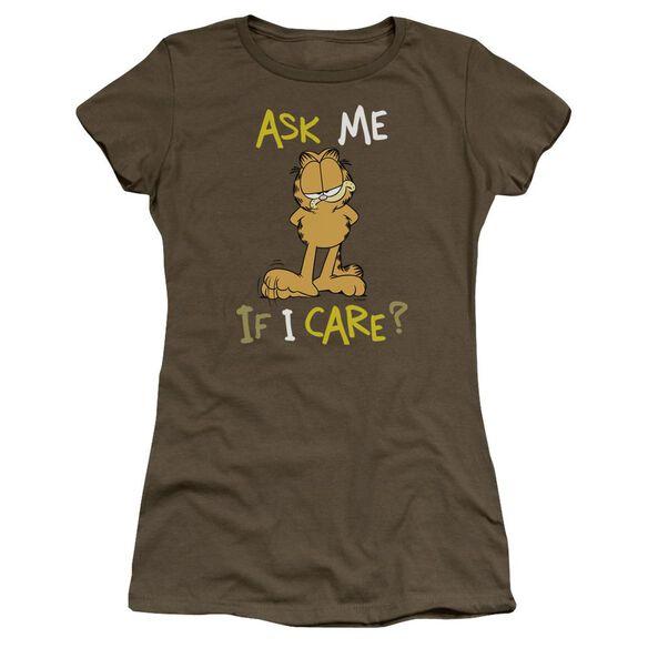 Garfield Ask Me If I Care Premium Bella Junior Sheer Jersey Military