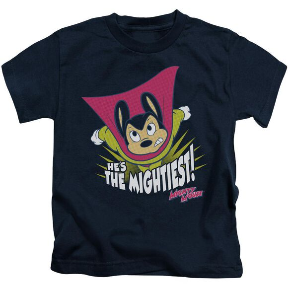 Mighty Mouse The Mightiest Short Sleeve Juvenile Navy T-Shirt