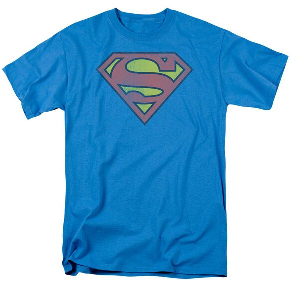 DC RETRO SUPES LOGO DISTRESSED - S/S ADULT 18/1 - TURQUOISE T-Shirt