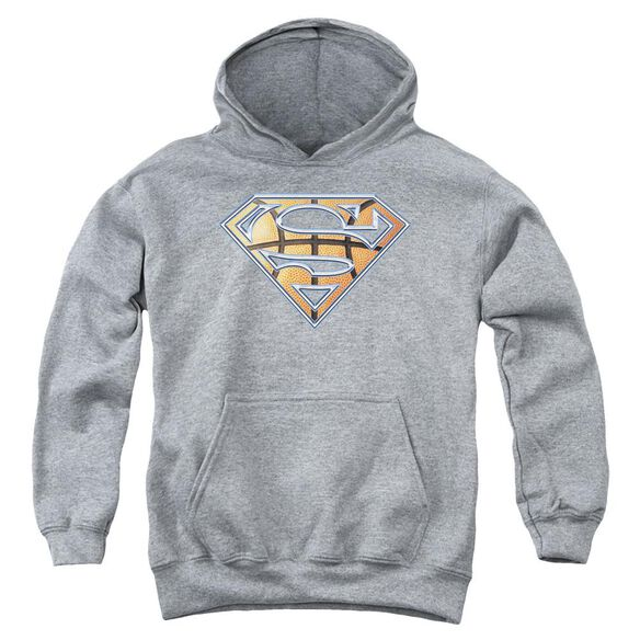 Superman Basketball Shield Youth Pull Over Hoodie