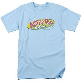 Astro Pop Logo Short Sleeve Adult Light Blue T-Shirt