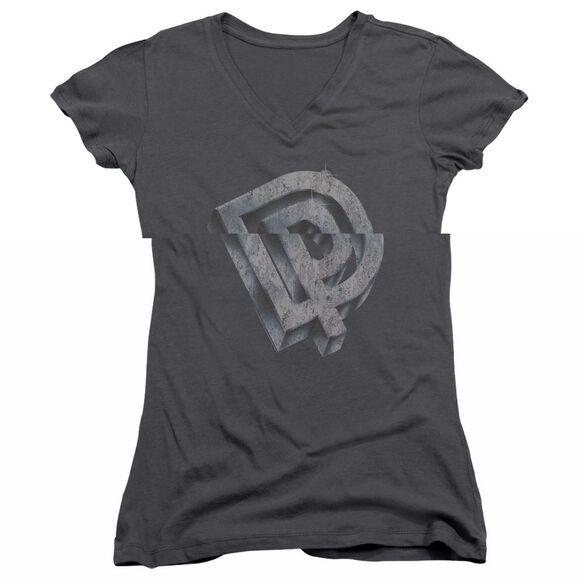 Deep Purple Dp Logo Junior V Neck T-Shirt