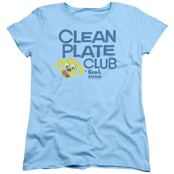 Ken L Ration Clean Plate Short Sleeve Womens Tee Light T-Shirt