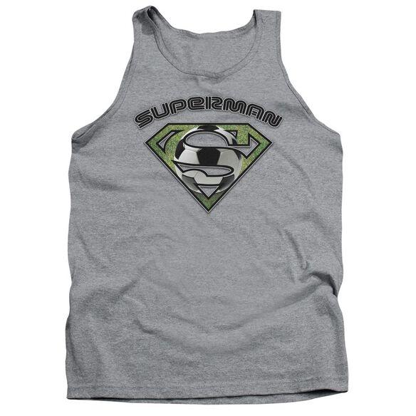 Superman Soccer Shield Adult Tank Athletic