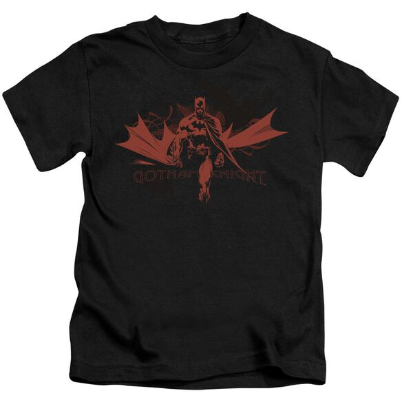 Batman Gotham Knight Short Sleeve Juvenile Black T-Shirt
