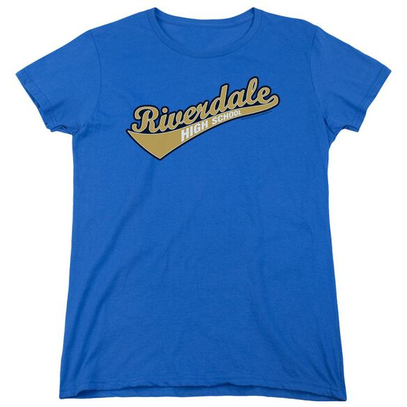 Archie Comics Riverdale High School Short Sleeve Womens Tee Royal T-Shirt