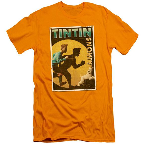 Tintin Tintin & Snowy Flyer Premuim Canvas Adult Slim Fit