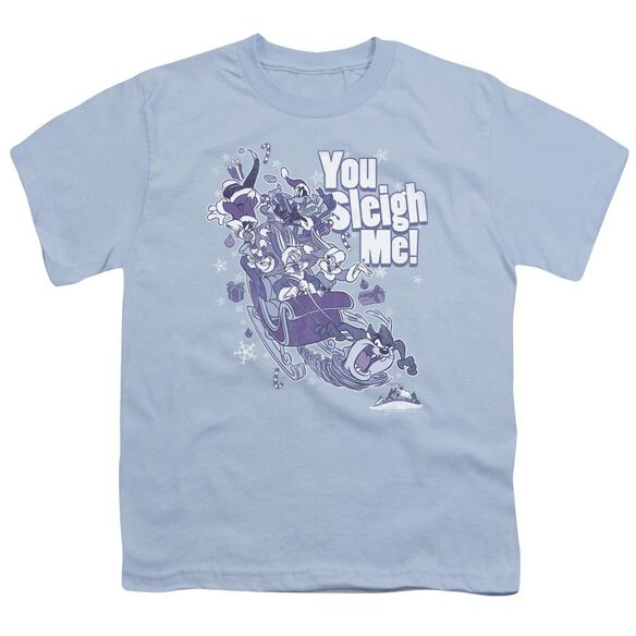 Looney Tunes You Sleigh Me Short Sleeve Youth Light T-Shirt