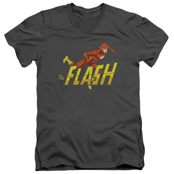 Dc 8 Bit Flash Short Sleeve Adult V Neck T-Shirt