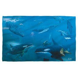 Wild Wings Whales 2 Golf Towel W Grommet