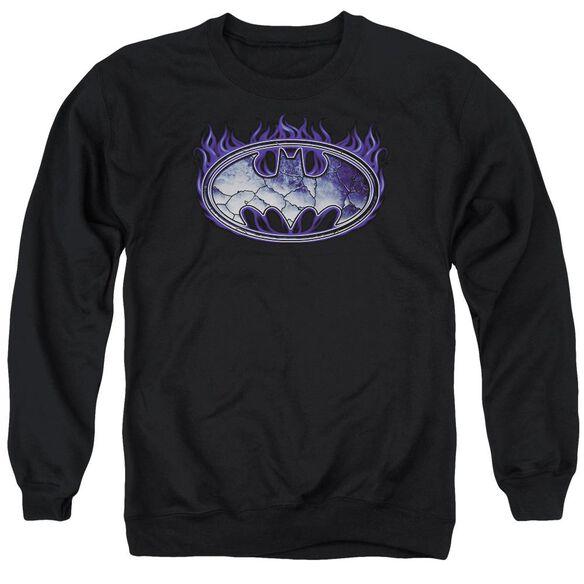Batman Cracked Shield Adult Crewneck Sweatshirt
