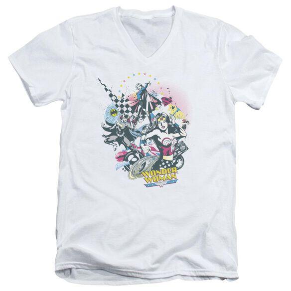 Dc Power Trio Short Sleeve Adult V Neck T-Shirt