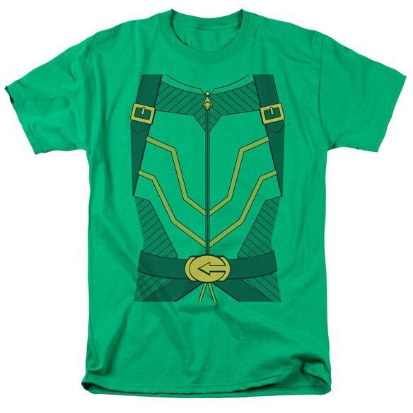 Jla Arrow Costume Short Sleeve Adult Kelly T-Shirt