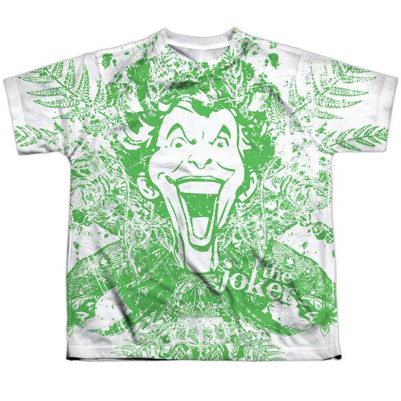 Batman Joker In The Wild Short Sleeve Youth Poly Crew T-Shirt