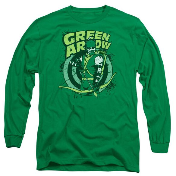 Dc On Target Long Sleeve Adult Kelly T-Shirt