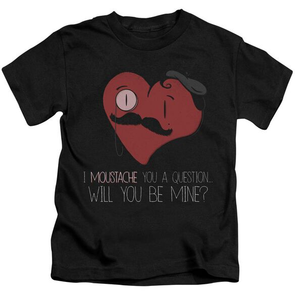 Popping The Question Short Sleeve Juvenile Black T-Shirt