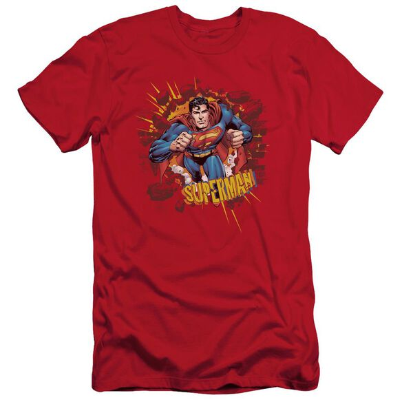 Superman Sorry About The Wall Short Sleeve Adult T-Shirt