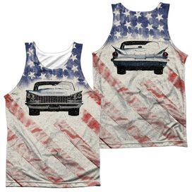 Buick 1959 Electra Flag (Front Back Print) Adult Poly Tank Top