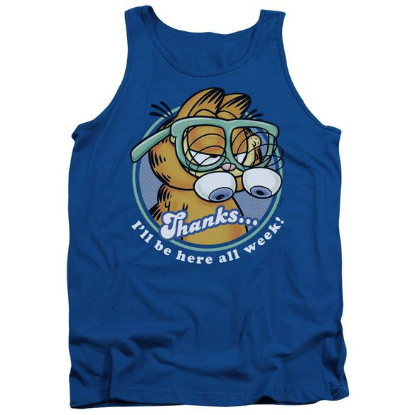 Garfield Performing - Adult Tank - Royal Blue
