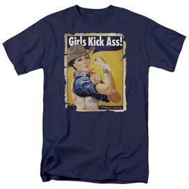 WESTERN GIRLS KICK ASS - ADULT 18/1 - NAVY T-Shirt