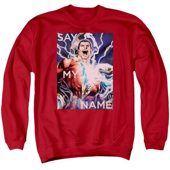Jla Say My Name Adult Crewneck Sweatshirt