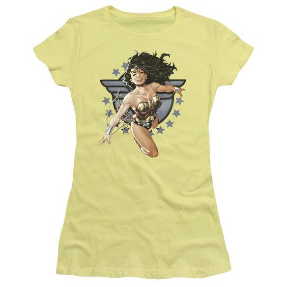 Jla Ww All Star Short Sleeve Junior Sheer T-Shirt