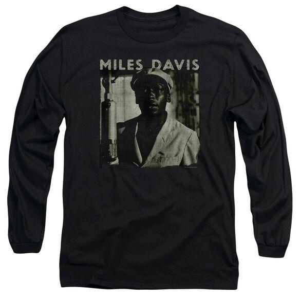 Miles Davis Miles Portrait Long Sleeve Adult T-Shirt