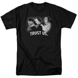 Three Stooges Turst Us Short Sleeve Adult T-Shirt
