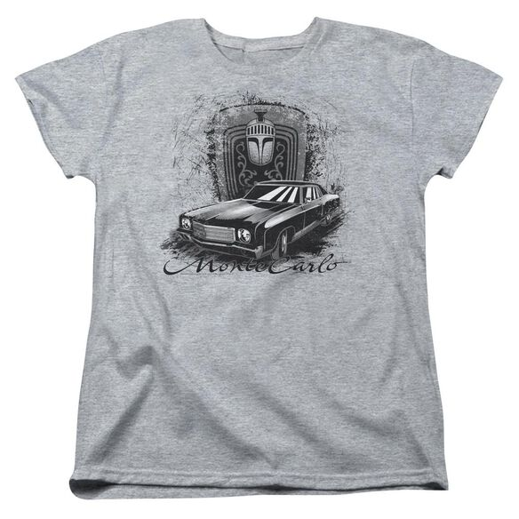 Chevrolet Monte Carlo Drawing Short Sleeve Womens Tee Athletic T-Shirt