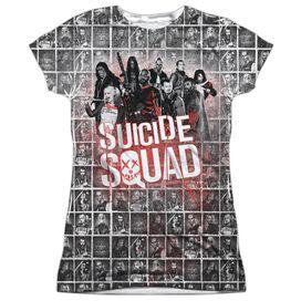 Suicide Squad Squad Splatter Short Sleeve Junior Poly Crew T-Shirt
