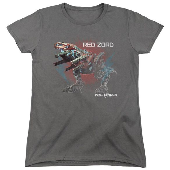 Power Rangers Red Zord Short Sleeve Womens Tee T-Shirt