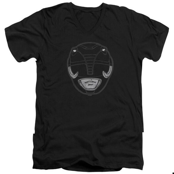 Power Rangers Ranger Mask Short Sleeve Adult V Neck T-Shirt