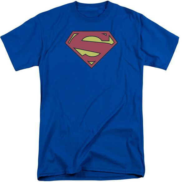 Superman New 52 Shield Short Sleeve Adult Tall Royal T-Shirt