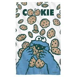 Sesame Street Cookie Crumble Golf Towel White Face