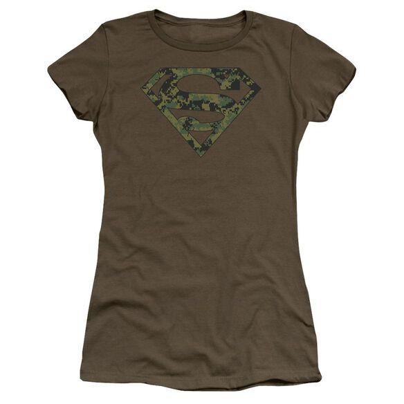 Superman Marine Camo Shield Premium Bella Junior Sheer Jersey Military