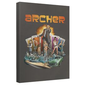 Archer Title Canvas Wall Art With Back Board