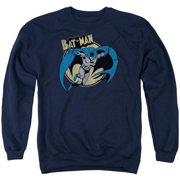 Batman Through The Night Adult Crewneck Sweatshirt