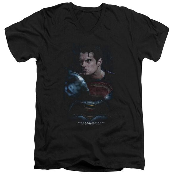 Batman V Superman Super Angry Short Sleeve Adult V Neck T-Shirt