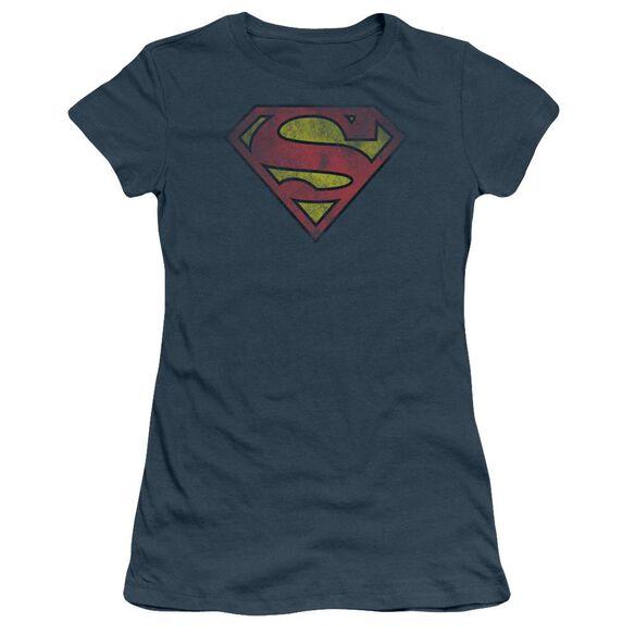 SUPERMAN INSIDE SHIELD - S/S JUNIOR SHEER - INDIGO T-Shirt